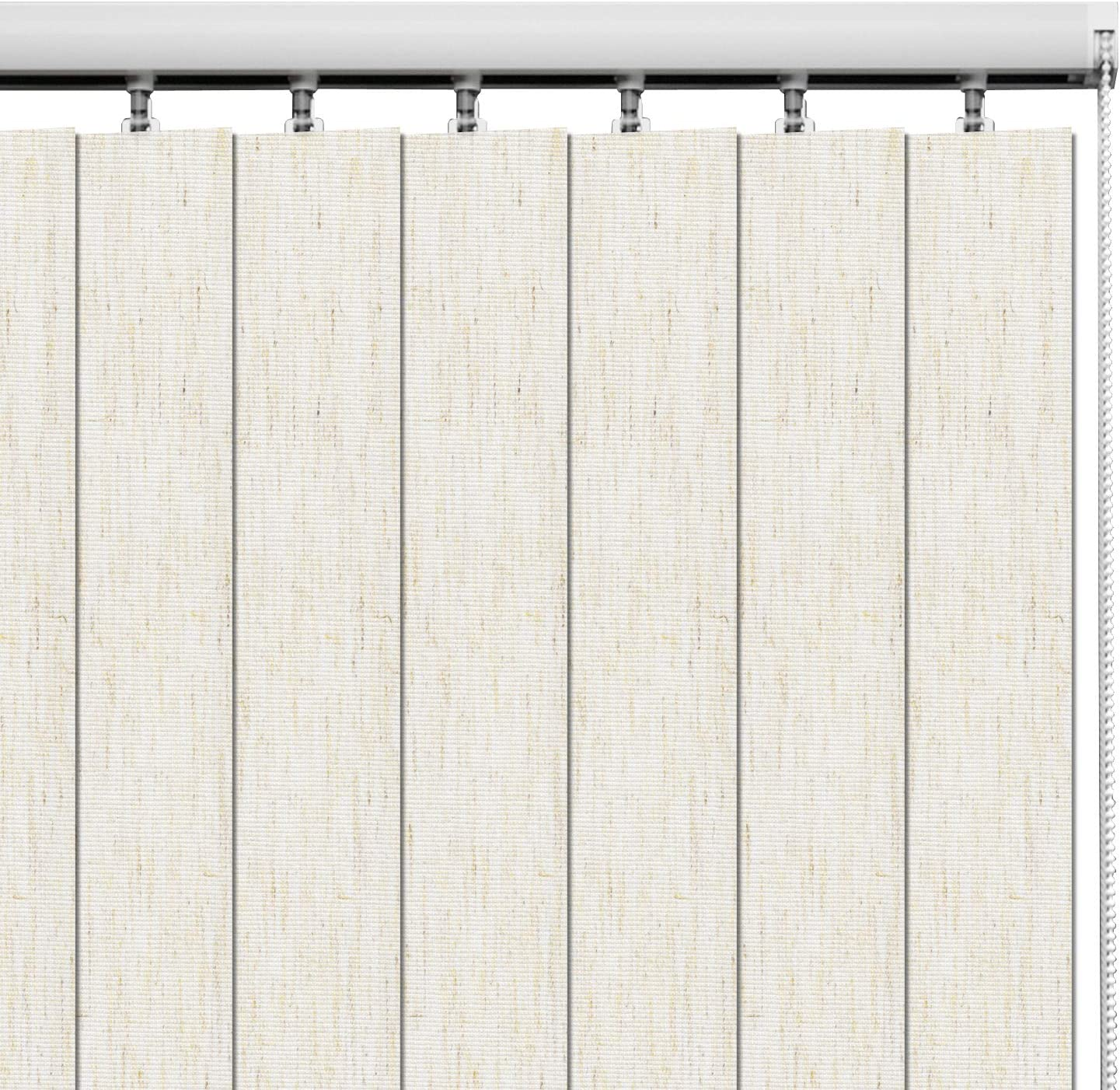 HousCa Blackout Vertical Blinds Window Beige Max Cheap bargain 43% OFF Linen Custo Shades