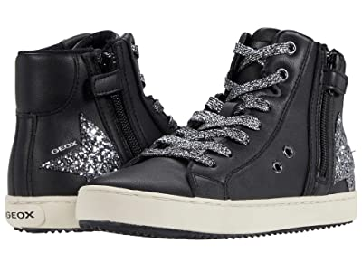 Geox Kids Kalispera 36 (Little Kid/Big Kid) (Black/Dark Silver) Girl
