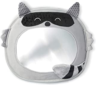 Diono Easy View Raccoon Character Baby Car Mirror, Safety Car Seat Mirror for Newborn Infant, Crystal Clear View with Shat...