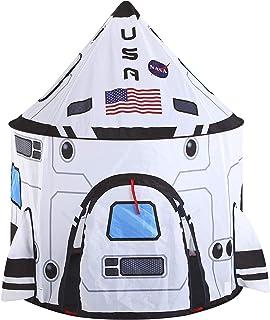 JOYIN White Rocket Spaceship Tent Kids Rocket Tent Playhouse for Indoor Kids Play and Kids Indoor Outdoor Activity