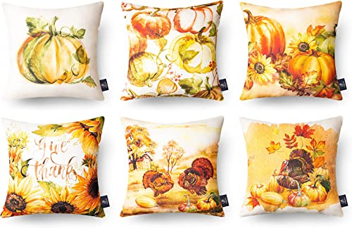 new arrival Phantoscope popular Fall wholesale Pillow Covers Thanksgiving Decor Autumn Harvest Decorative Pillowcases Pack of 6, 18 x 18 inches 45 x 45 cm sale