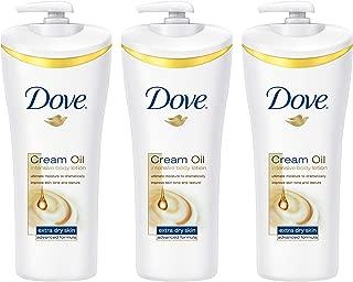 Dove Cream Oil Body Lotion, Intensive, 13.5 oz 3 ct