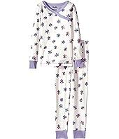 Hatley Kids - Snowflakes Wrap Over PJ Set (Toddler/Little Kids/Big Kids)
