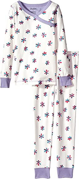 Hatley Kids - Snowflakes Wrap Over PJ Set (Toddler/Little Kids/Big Kids)