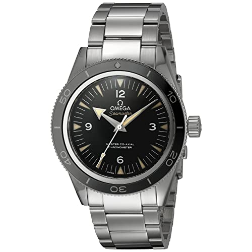 Omega Mens 23330412101001 Seamaster300 Analog Display Swiss Automatic Silver Watch
