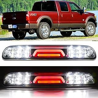 Sanzitop For 99-16 Super Duty / 93-11 Ranger / 94-10 Mazda B-Series / 01-05 Ford Explorer Sport Trac High Mount LED 3rd Tail Brake Light Cargo Lamp (Chrome Housing Clear Lens)
