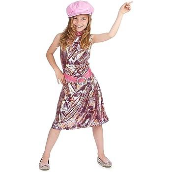 Disfraz de los años 60 para niña: Amazon.es: Juguetes y juegos