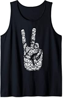 Mandala Peace Sign Henna Hand Tattoo Hindu Tank Top
