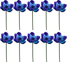 Lily Garden Artificial Flowers Real Touch Orchid Set of 10 (Purple)