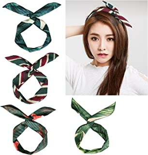 4 Pack Retro Headband, Boho Style Hair Band Wrap for Women and Girl