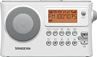 Sangean PR-D14 AM/FM-RDS Portable Receiver with USB-White (Certified Refurbished)