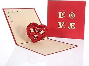 FANCYLEO - Tarjeta 3D de amor para esposa, boda, aniversario, día de San Valentín