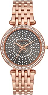 Women's Darci Watch- Glamorous Three Hand Quartz Movement Wrist Watch with Crystal Bezel