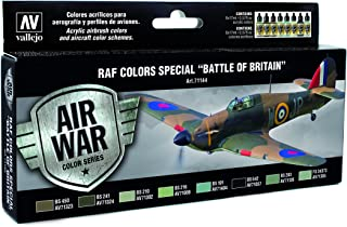 """Vallejo 71144 Model Air RAF & FAA Special """"Battle of Britain"""" WWII 8 Colour Acrylic Paint Set"""