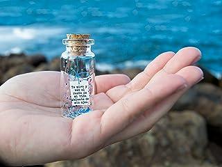 Te miro y veo el resto de mi vida delante de mis ojos.' Mensaje en una botella. Miniaturas. Regalo personalizado. Divertid...
