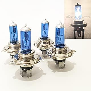 Mega Racer 2 Pair H4 9003-HB2 (High/Low Beam) Super White 5000K Xenon Halogen Headlight Lamp Light Bulb Replacement Car