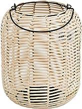 15188 من Sagebrook Home مصباح حديدي مستدير، طبيعي، 25.4 سم طول × 25.4 سم عرض × 25.4 سم ارتفاع، بني