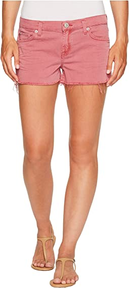Hudson Kenzie Cut Off Five-Pocket Shorts in Dusted Orchid
