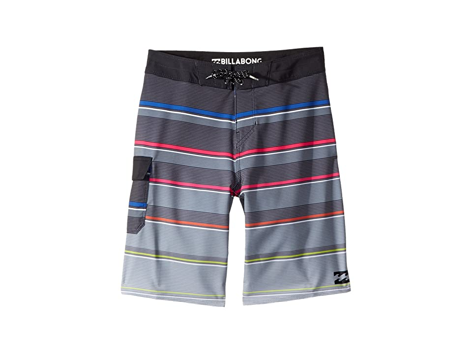 Billabong Kids All Day X Stripe Boardshorts (Big Kids) (Stealth) Boy