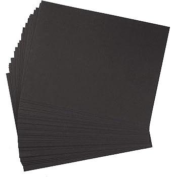 Pack 30 hojas cartón reciclado negro grueso 400 g/m² hojas cartoncillo compacto, para manualidades, scrapbook - 23x30 cm: Amazon.es: Hogar