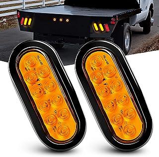 "Nilight TL-08 6"" Oval Amber Tail 2 piezas 10 LED con"