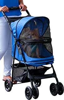 Pet Gear No-Zip Happy Trails Pet Stroller for Cats/Dogs, Zipperless Entry, Easy Fold with..