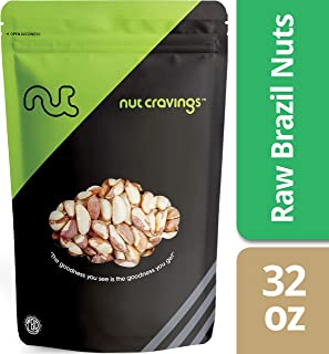 Raw Brazil Nuts (2 Pounds) Compare To Organic Raw Brazil Nuts – Whole, Large, Unsalted, No Shell Raw Brazilian Nuts – 32 Ounce