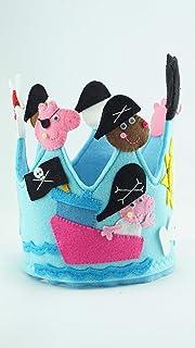 Corona Cumpleaños Peppa Pig Pirata