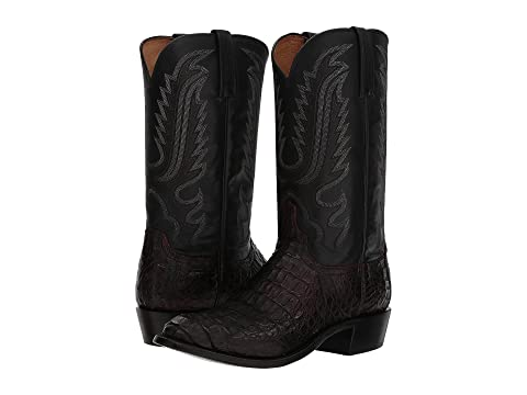 Hornaback Cherry Lucchese CaimanTan Burnished Walter Black FvWqwTU
