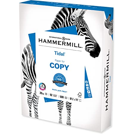 Hammermill Printer Paper, Tidal 20 lb Copy Paper, 8.5 x 11-1 Ream (500 Sheets) - 92 Bright, Made in the USA