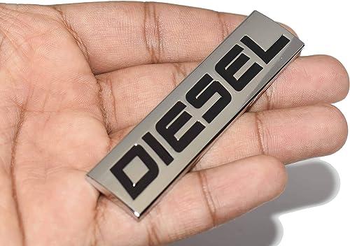 Incognito-7 Metal Diesel Badge Car Sticker, Silver