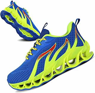 Sponsored Ad - UMIYE Boys Girls Sneakers Kids Running Walking Shoes Mesh Breathable Non-Slip Athletic Shoes(Little Kid/Big...