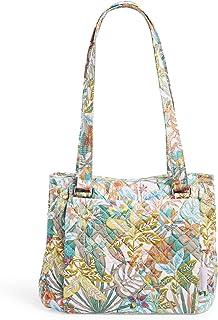 Vera Bradley womens Recycled Cotton Multi-Compartment Shoulder Satchel Purse Handbag