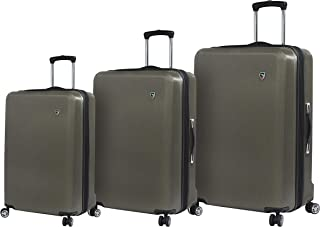 Italy Moda Hardside Spinner Luggage 3 Piece Set, Gunmetal
