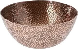 Thirstystone Large Round Hammered Antique Finish Copper Salad Bowl
