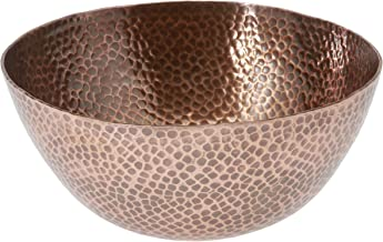 Thirstystone Large Round Hammered Antique Finish Copper Salad Bowl