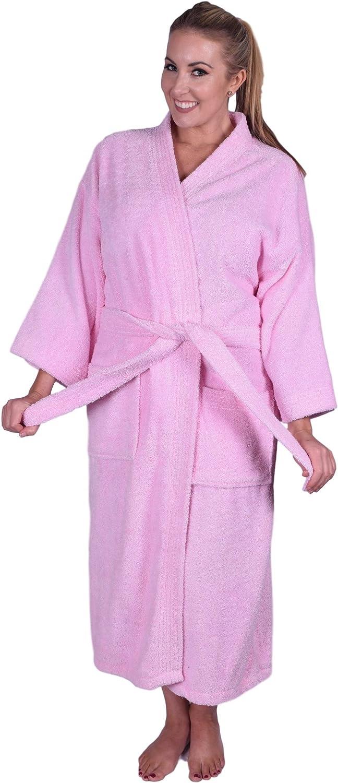 Puffy Cotton Adult Unisex Kimono Bathrobe 100/% Natural Soft Cotton Robe