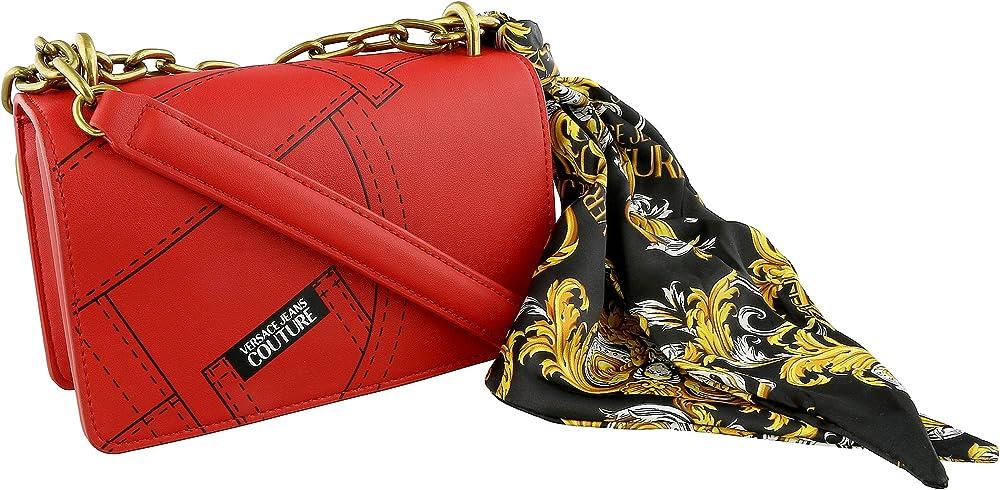Versace jeans couture, borsa piccola per donna, con manico a catena,90%poliuretano, 10% poliestere EE1VZABA2E71574E500