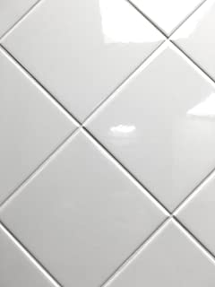 4x4 White Glossy Finish 4 1/4x4 1/4 Ceramic Subway Tile Shower Walls Backsplashes