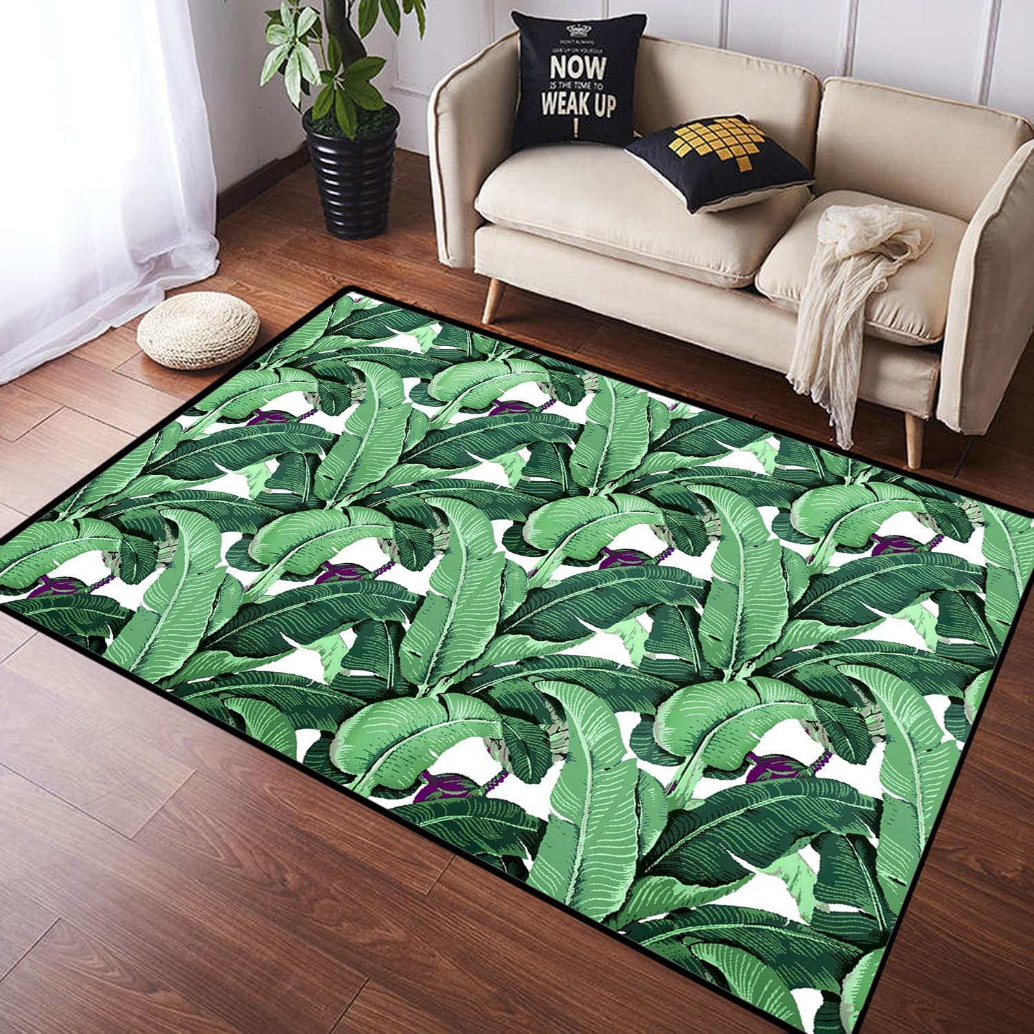 KUDOUXIA Amazing Exotic Rainforest Banana Attention brand Floor Leaf C Large Ranking TOP7 Mat