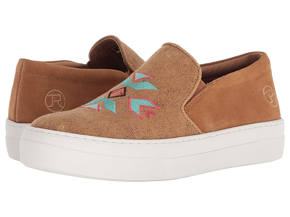 Roper Darcy (Tan Metallic Canvas/Aztec Embroidery) Women