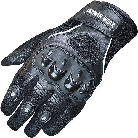 German Wear Motocross Motorradhandschuhe Biker Handschuhe Textilhandschuhe 6x Farben Größe 10 Xl Farbe Schwarz Auto