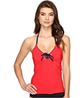 Nautica - Topsail Lace-Up Tankini Top