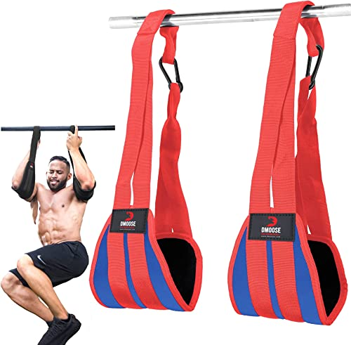DMoose Ab Straps for Abdominal Muscle Building, Arm Support for Ab Workout, Hanging Ab Straps for Pull Up Bar Attachm...