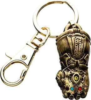 Marvel Comics Unisex Adult Thanos Infinity Gauntlet 3D Key Chain, Antique Gold, One Size