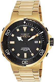 Invicta Pro Diver Men's Black Dial Stainless Steel Band Watch - 24467, Analog Display