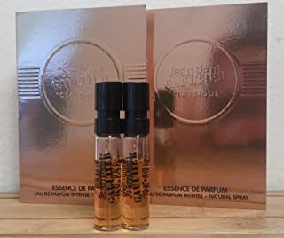Jean Paul Gaultier Classique Essence De Parfums Sample-Vials For Women, 0.05 oz EDP Intense -Lot Of 2- -Name Brand Sample-Vials Included-
