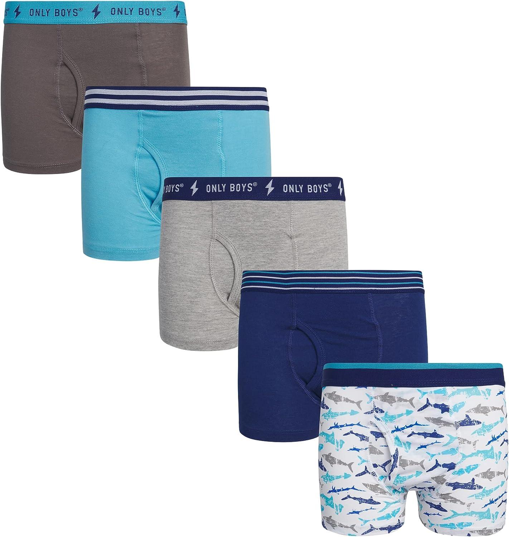 Only Boys' Underwear - 5 Pack Cotton Boxer Briefs (Little Boy/Big Boy)