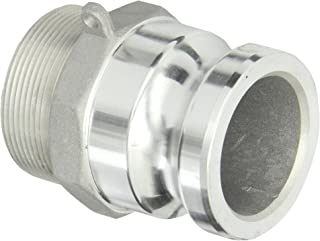 "Dixon G200-F-AL Aluminum A380 Global Type F Cam and Groove Hose Fitting, 2"" Plug x 2"" NPT Male"