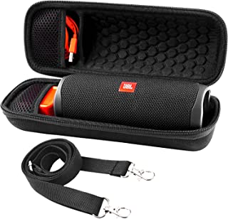 Case for JBL FLIP 5 Waterproof Portable Bluetooth Speaker. Hard Travel Storage Holder for JBL FLIP 4 and USB Cable&Adapter.